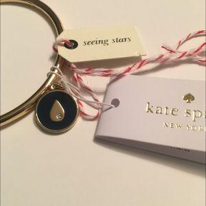 KATE SPADE teardrop raindrop Charm bangle bracelet